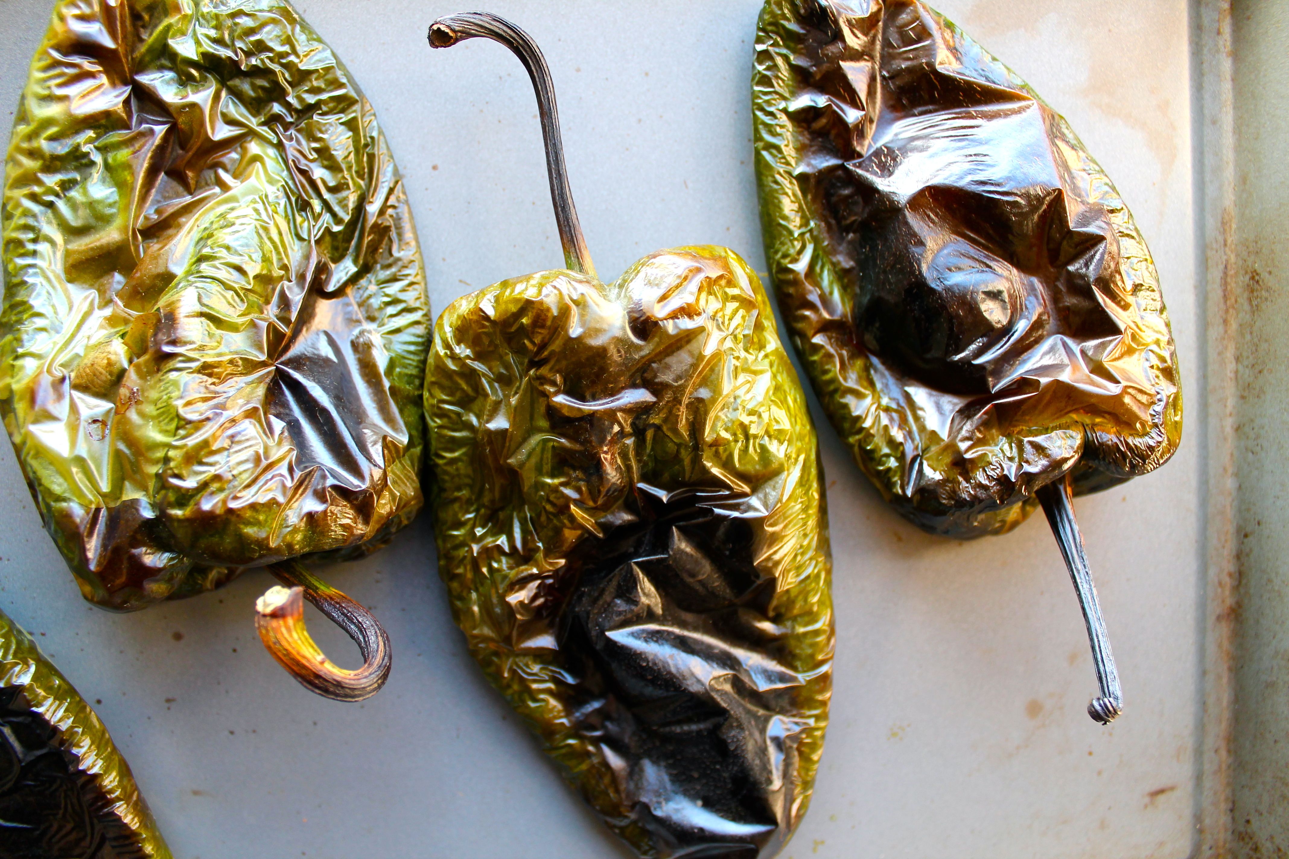 Rajas Poblanas Tacos with Homemade Tortillas, Etc. -
